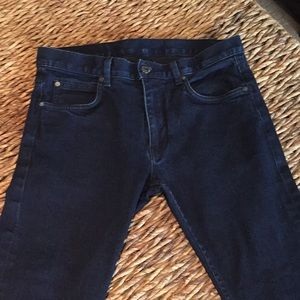Helmut Lang jeans. Skinny fit. Dark blue dyed.Sz30